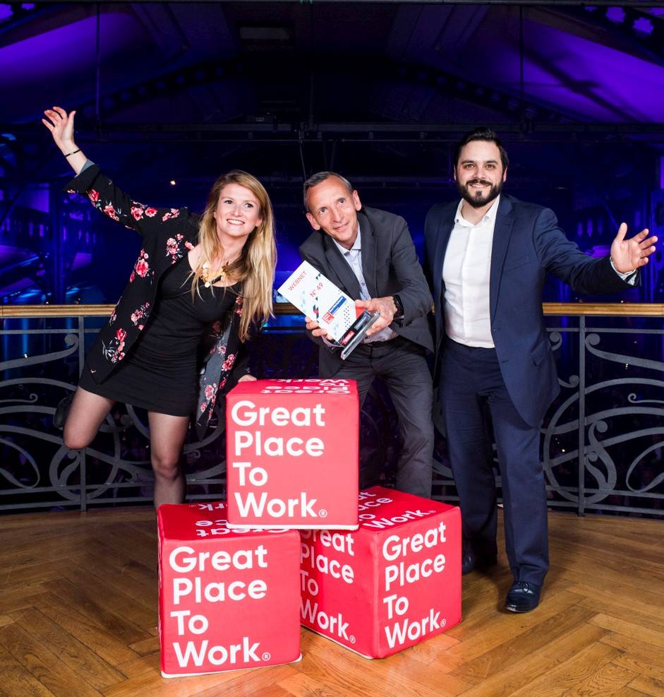 Cérémonie Great Place To Work 2019 - Photo Team Webnet